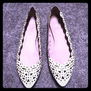 Vince camuto ivory flats